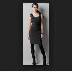 Ann Taylor Loft Black sculpted sheath dress